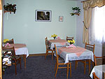 Speisezimmer der Pension in Pirna
